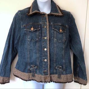 Lane Bryant Venezia Womens Denim Jacket Size 14 16